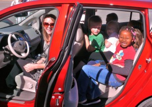 Bethany Wiseman, 2nd graders in Nissan Leaf