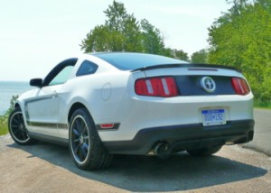 Boss 302 rear angle