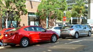 Both the Mazda3 sedan and 5-door offer an exotic look for compacts.