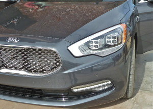 Four 4-beam clusters make 16 LED headlights for the K900.