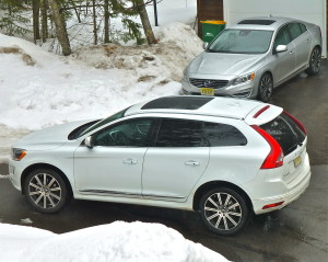Redesigned 2015 Volvo XC60 and S60 (rear) have FWD traction that nears AWD.