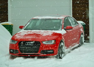 Audi S4 went through snow and stick made it more fun than challenging.