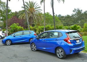New side contours improve the appearance of the 2015 Honda Fit.
