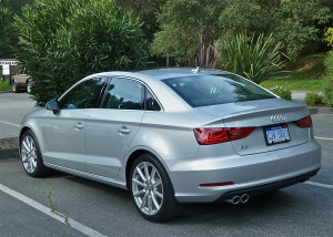 Crisp sedan body lines make the A3 far more than a smaller A4.