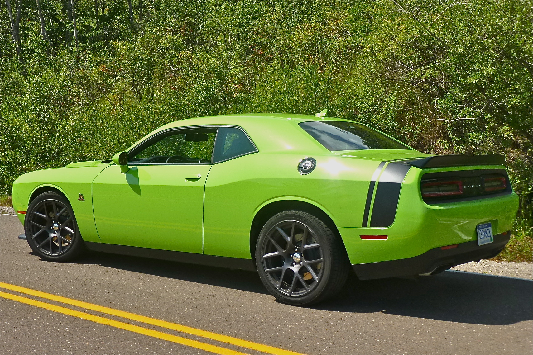 Lime green hellcat paint code autos post for Dark green paint job