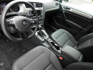 Interior of the Golf TSI welcomes occupants with simple but ergonomically pleasing seats and controls.
