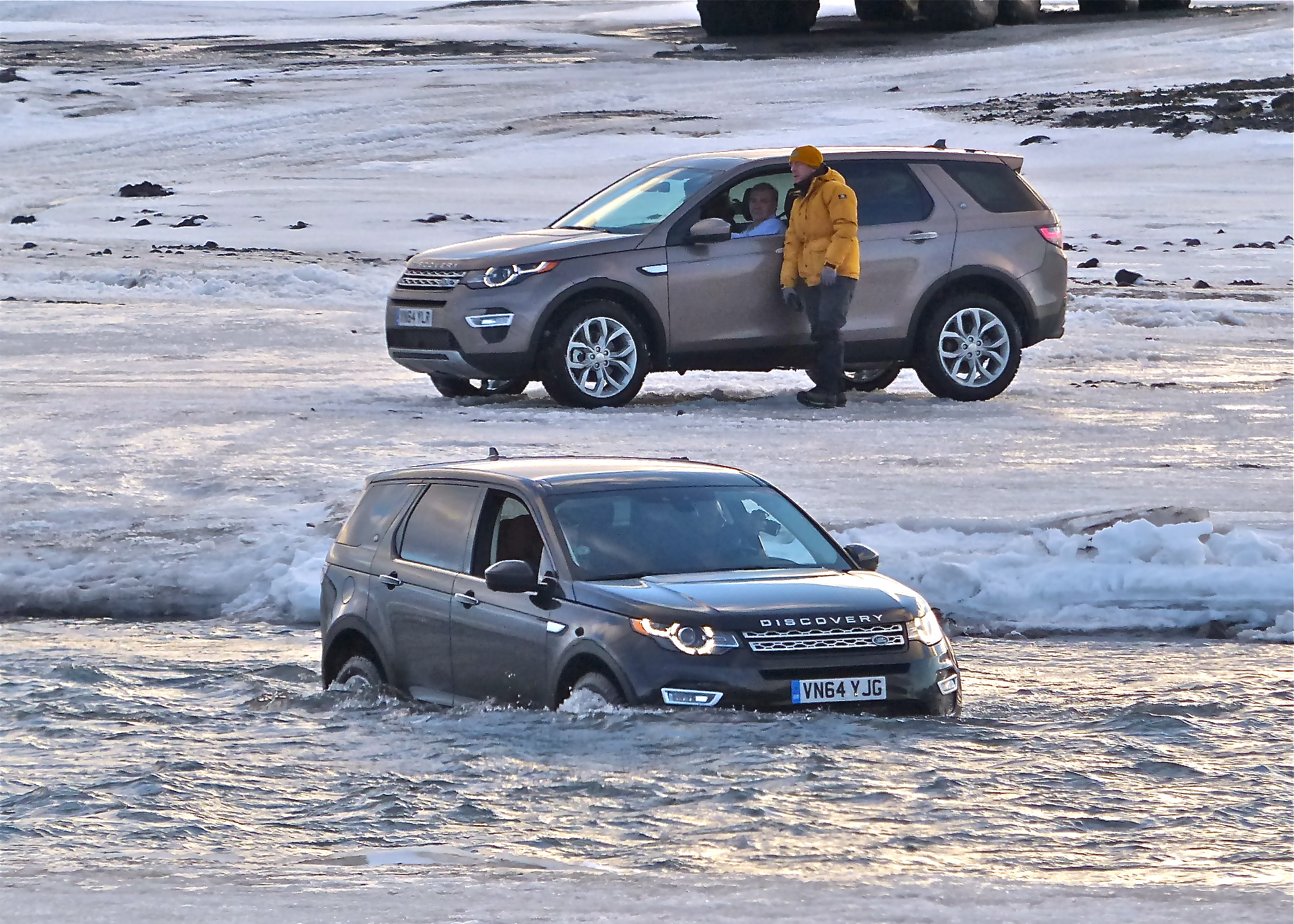Iceland's Hvita River has 18-pound salmon, and a few Land Rover Discovery Sports.
