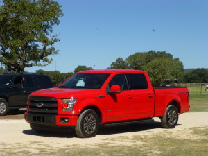 Blackout grille adds sportiness to F-150 SuperCrew.