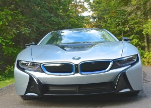 Familiar BMW grille is scrunched down to lead the all-wheel-drive hybrid.