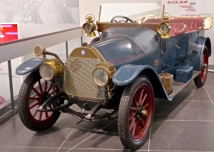 Alfa takes great pride in building passionate cars, starting with the first one, this 1910 museum piece.