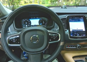 All driving controls can be operated by the feature-filled steering wheel.