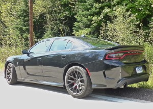 Redesigning the stretched 2015 Charger meant new contours in the flanks, more sloped roofline.