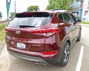 While compact, the Tucson has surprising interior room, filled with features.