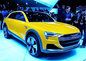 Audi's h-tron quattro concept hints at a styling shift.