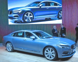 Hints of the truck/utility of the year XC90 are evident in the new Volvo S90 sedan.