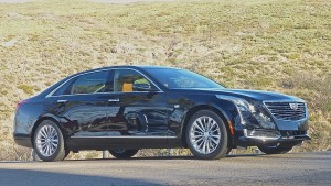 Despite its length and width, the CT6 design looks low and lean.