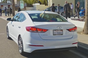 LED taillights set off the restyled rear of the new Elantra.