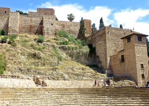 Backside of the Alcazaba features a coliseum-like arena.