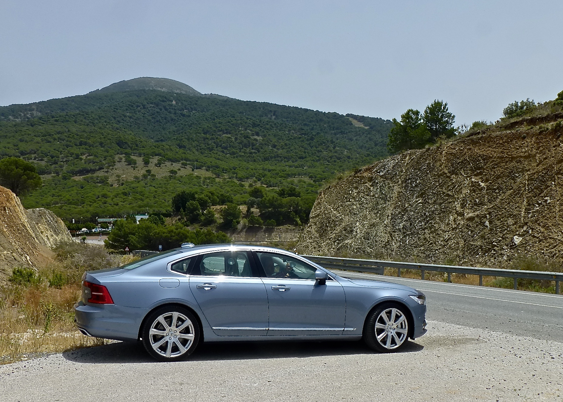 The Volvo S90 was as impressive when driven through the Spanish countryside as on city streets.