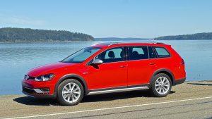 Sleek lines bear striking resemblance to the VW SportWagen, but the taller Alltrack has 4Motion-standard.