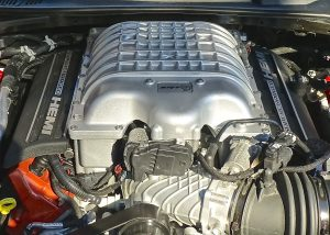 Hellcat's soul is a 6.2-liter supercharged Hemi V8, with 700 horsepower and 650 foot-pounds of torque.
