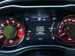 Launch-control directions are pretty easy to follow for optimum Hellcat fun.