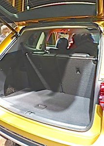 Plenty of storage space waits under the hatch, with or without the third-row seats folded down.
