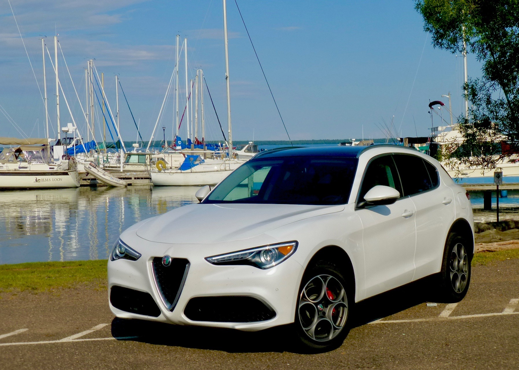 Alfa's new Stelvio Ti flashes familiar face, but it is a high-tech SUV for 2018.