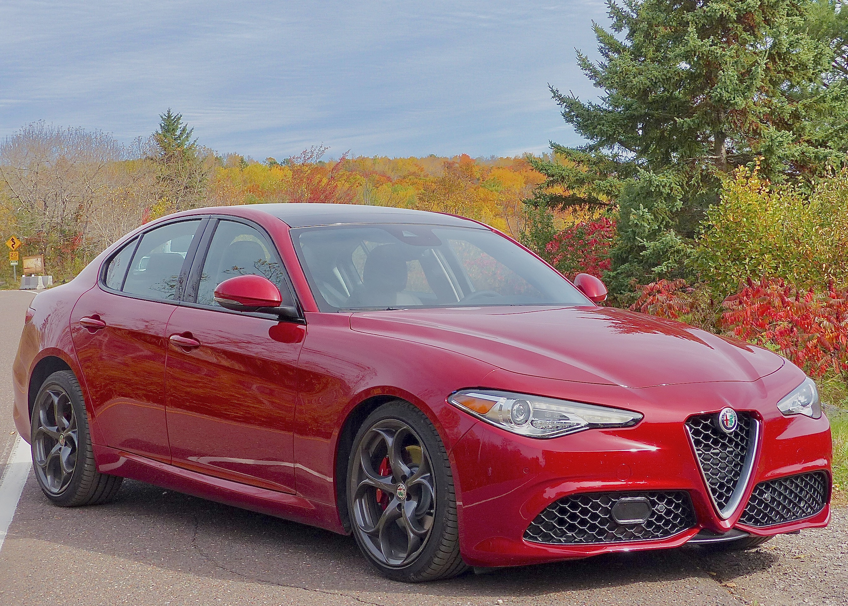 The Alfa Romeo Giulia TI matches its external beauty with potent performance and superb handling.