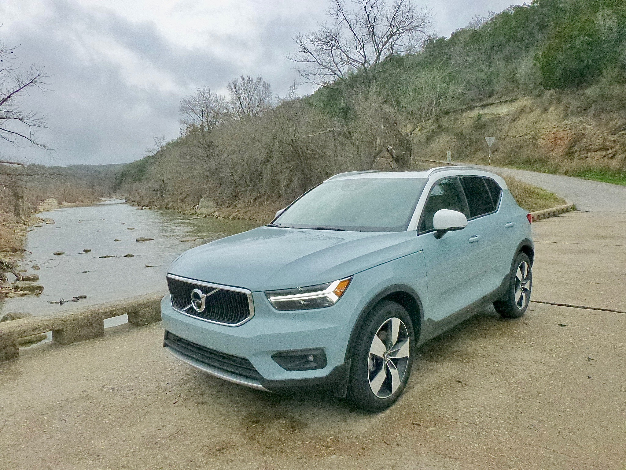 Rain in Texas Hill Country caused the rivers to rise, and the Volvo XC40 never flinched.
