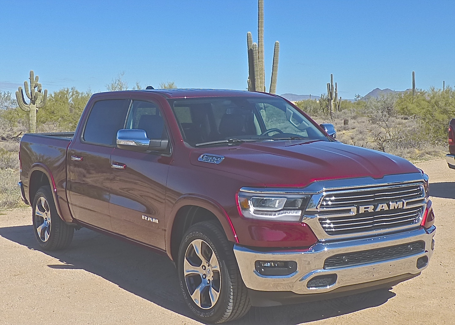 Dramatic change from grille, to interior, frame ride, handling mark 2019 Ram.