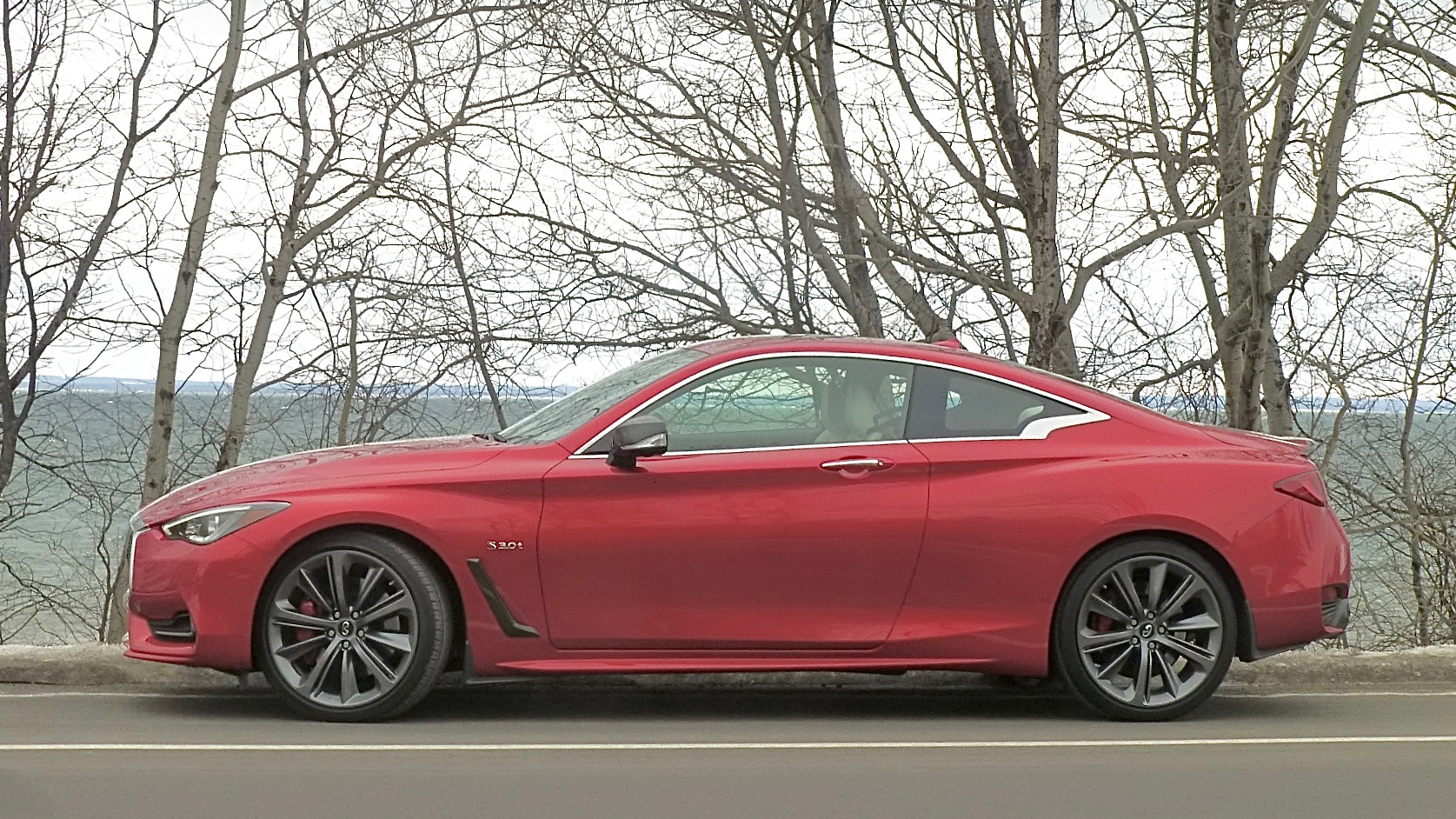 Sweeping fastback lines imply 2-seater, but Q60 has fair room in the rear, too.