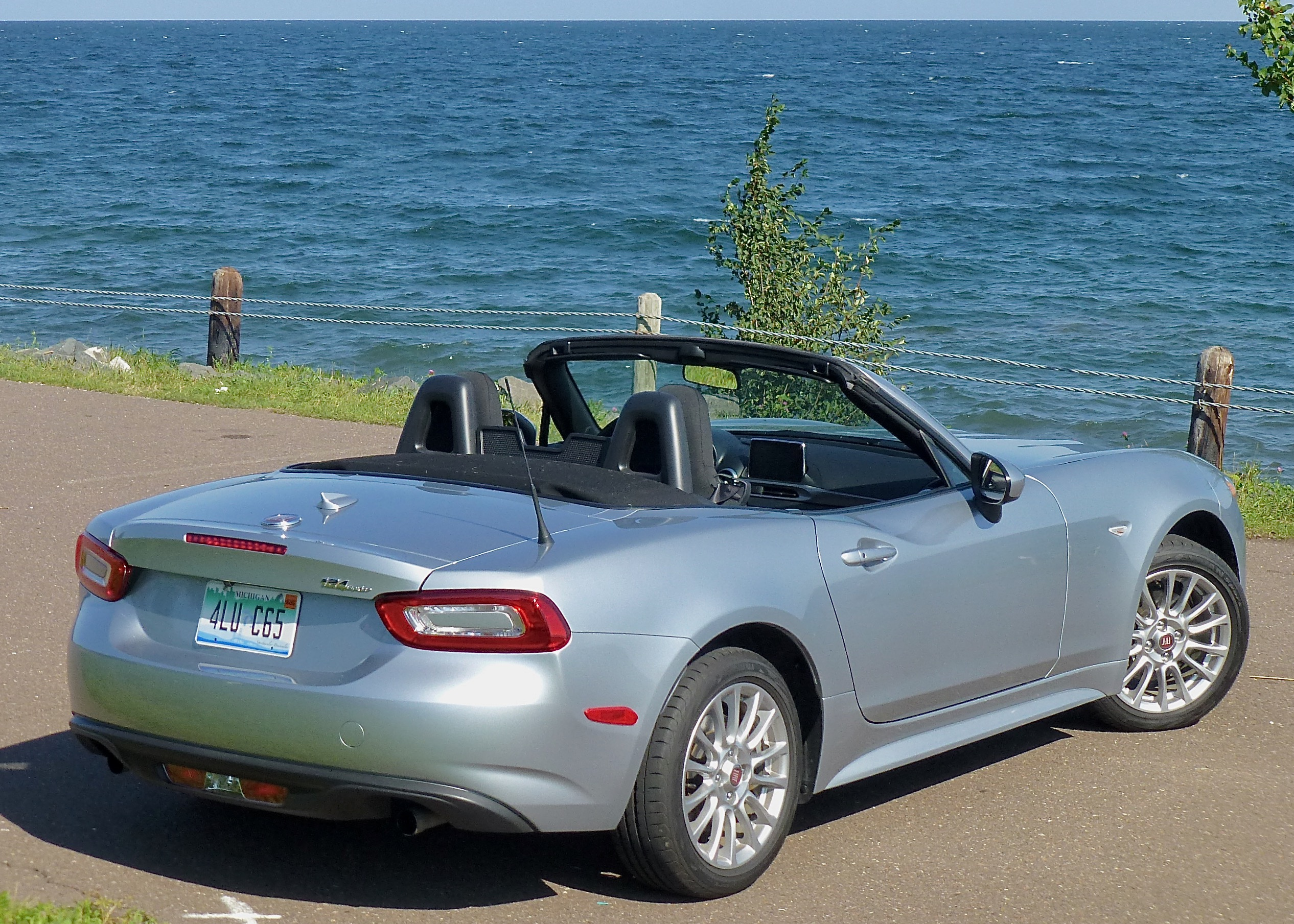 Top down, windows down, the 124 Spider can help stretch summer into fall.