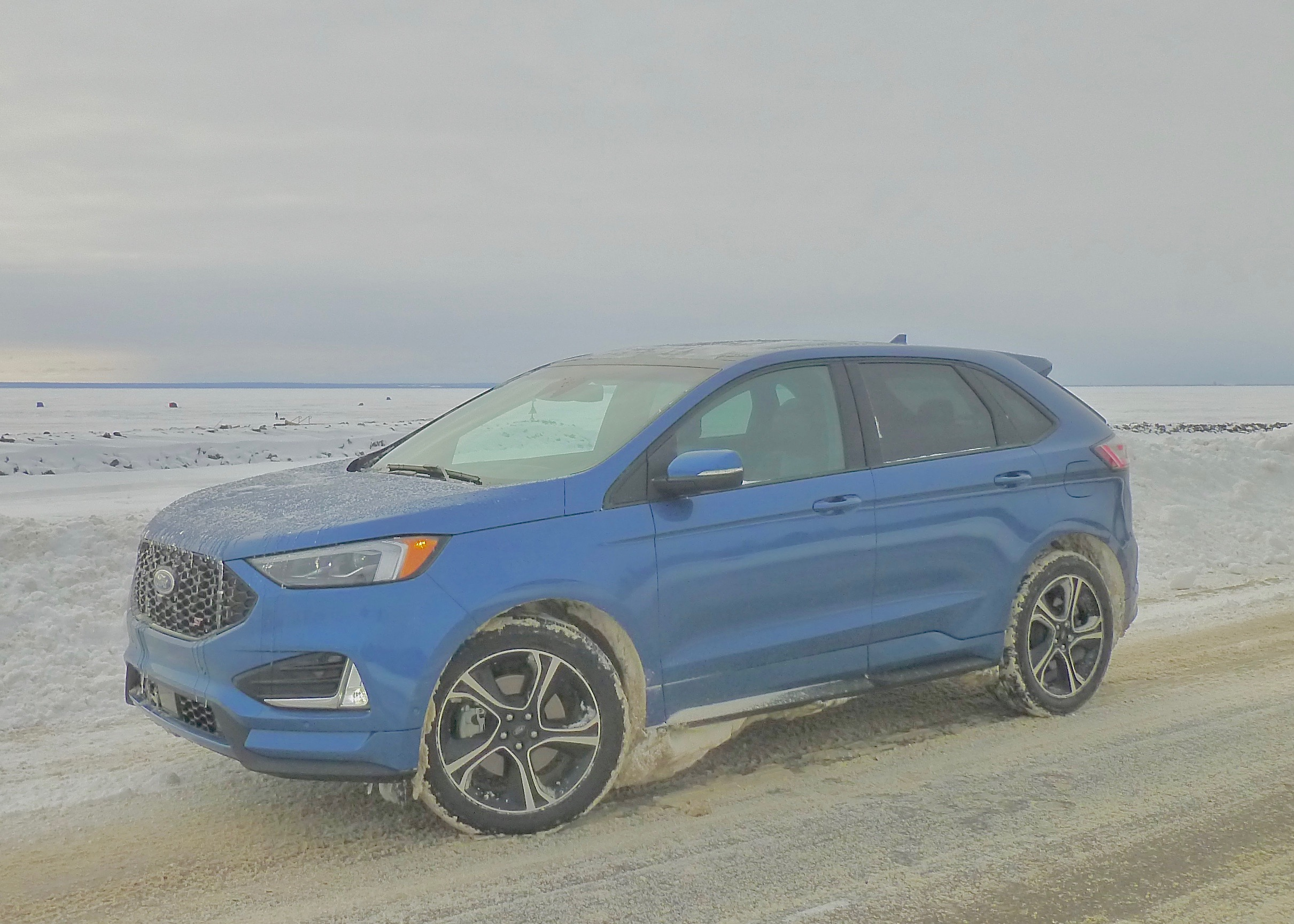 Restyled Ford Edge comes in sportiest ST form to leave Lake Superior ice fishermen out in the cold.