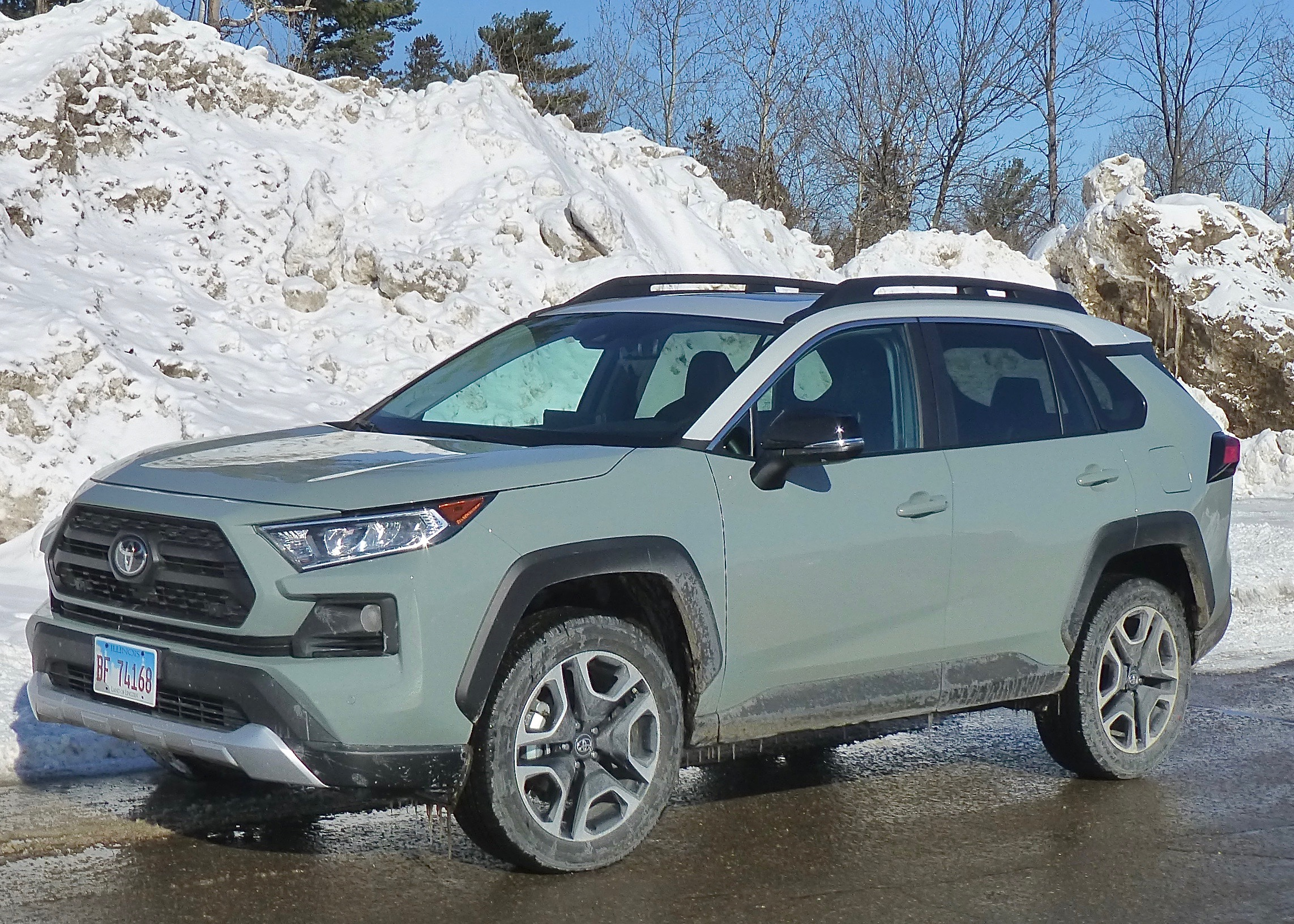 New Tacoma-like grille sets off new platform under all-new 2019 RAV4.
