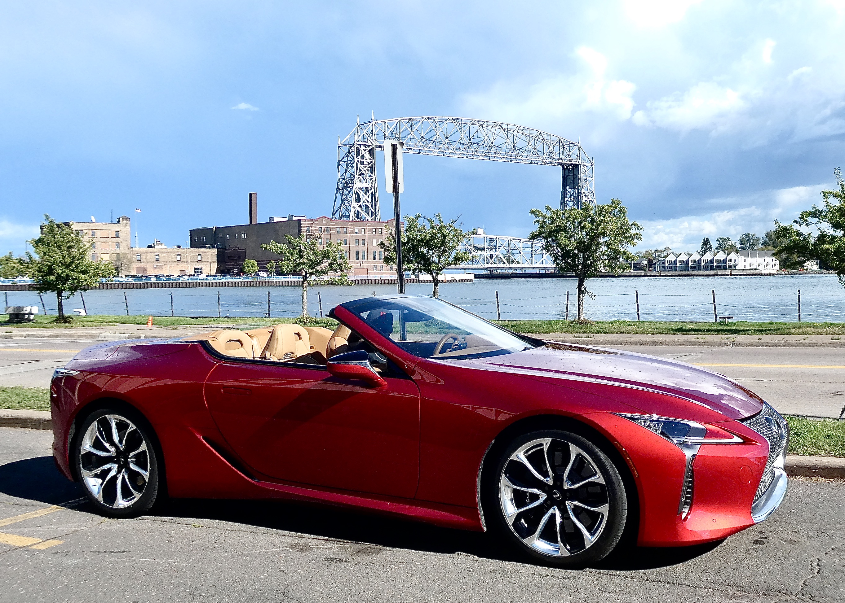 Stealing the appeal of Duluth's Aerial Bridge, the LC500 is at home anywhere.